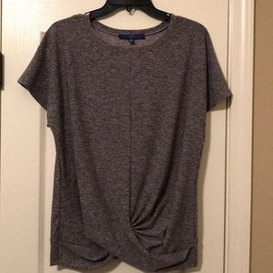 Apt 9 grey top with knotted bottom SZ PL